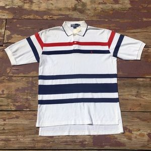 Vintage 90s striped polo shirt by Ralph Lauren NWT